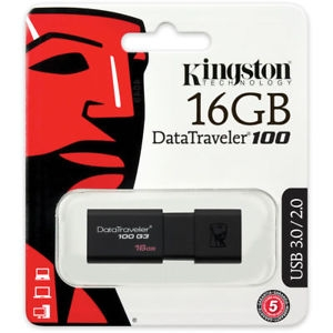 KINGSTON USB FLASH DT100G3/16GB BL USB3